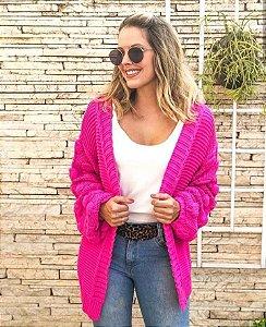 Casaco de tricot fashion - Pink