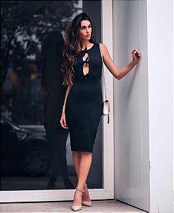 Vestido tubo Preto em Suplex - Tamanho único