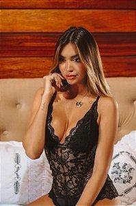 f23e14373 Body em renda preta super sensual - Madame Ninna