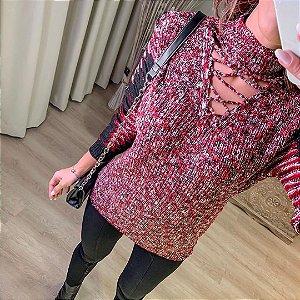 Blusa em tricot com gola alta Rebeca