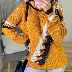 Suéter de tricot Raíssa - Amarelo