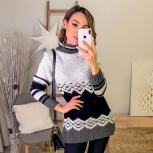 Blusa tricot com gola alta Mila