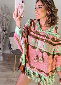 Poncho em tricot - Nathy