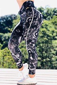 Calça legging fitness levanta bumbum estampa Machine