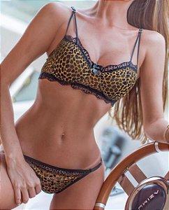 Conjunto de lingerie Maya Gold