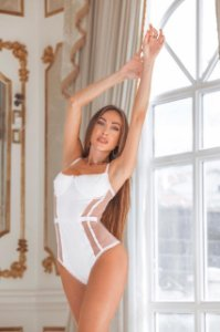 Body lingerie branco - Diamante
