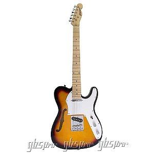 Guitarra GBSpro Telecaster Semi-Acustica - Sunburst
