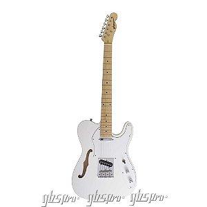 Guitarra GBSpro Telecaster Semi-Acustica - Branco