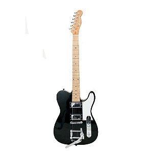 Guitarra GBSpro Telecaster Semi-Acustica - Preta