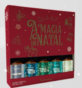 Kit com 5 essências A magia do Natal - VERMELHO