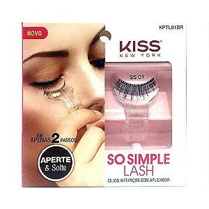 Cilios Kiss New York KPTL01BR Com Aplicador