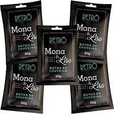 KIT  com 5 Sachês Botox de Chuveiro Mona e Lisa 50g Retrô