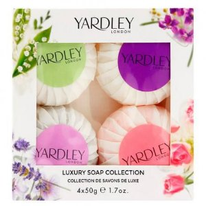 KIT YARDLEY LONDON LUXURY SOAP COLLECTION - SABONETES EM BARRA 4X50G CADA