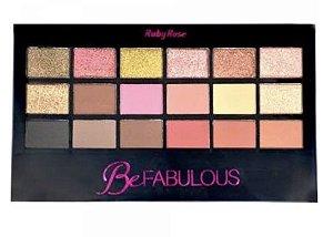 Paleta Ruby Rose Be Fabulous 18 Sombras + Primer HB