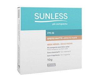 Sunless Pó Compacto FPS 50 Cor Bege Médio