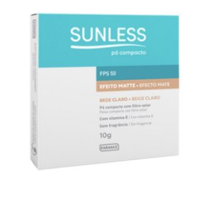 Sunless Pó Compacto FPS 50 Cor Bege Claro