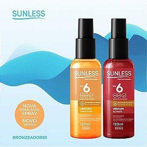 Sunless Óleo Bronzeador Urucum Achiote FPS 6 - Spray 120ml