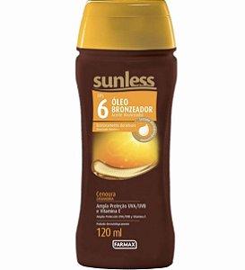 Sunless Óleo Bronzeador Cenoura FPS 6 - 120ml