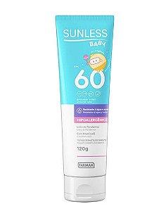 Sunless Protetor Solar Baby Toque Seco FPS 60 - 120g