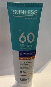 Sunless Protetor Solar Toque Seco FPS 60 - 120g