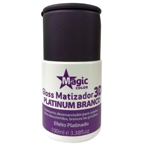 Magic Color Gloss Matizador 3D Platinum Branco Efeito Platinado - 100ml