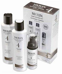 Kit Nioxin 4 com 3 produtos