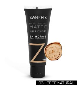 ZANPHY BASE LIQUIDA MATTE BEGE NATURAL