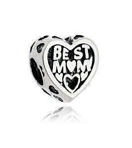 BERLOQUE DE PRATA CORAÇÃO BEST MOM