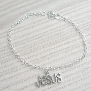 PULSEIRA DE PRATA ELINHOS JESUS