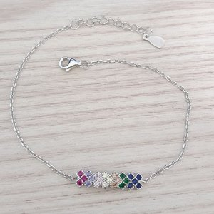 PULSEIRA DE PRATA SLIM COLORS
