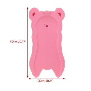 Esponja Antiderrapante Rosa para Banheira de Bebê  52cmx27cm
