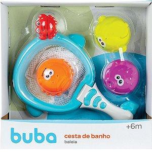 Cesta e Bichinhos para Banho Baleia +6m - Buba