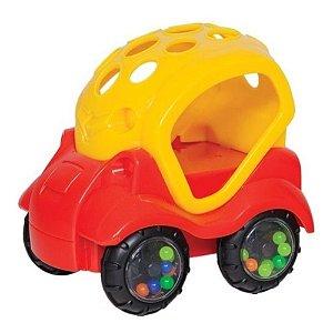 Carrinho de Brinquedo com Chocalho Vermelho, +6m - Buba