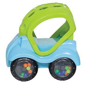 Carrinho de Brinquedo com Chocalho Azul, +6m - Buba