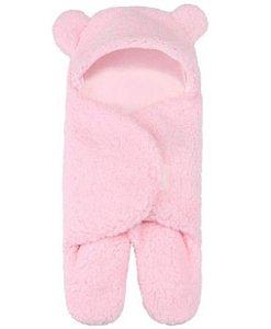 Saco de Dormir Cueiro Ursinho Inverno Rosa 0-12 meses