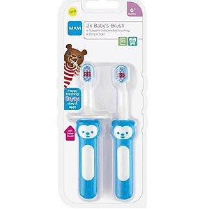Escova de Dentes Learn To Brush +6m 2un Azul MAM