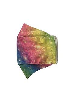 Máscara Infantil Reutilizável Tam M Tie Dye