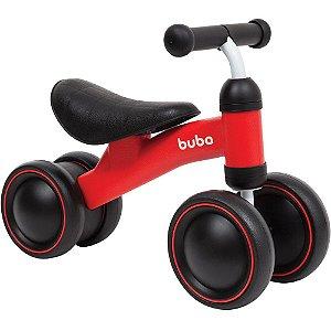 Bicicleta de Equilíbrio com 4 Rodas +12m Vermelha Buba