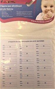 Cartela com 36 Etiquetas para Identificação de Leite Materno