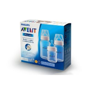 Kit Mamadeiras Anti-Cólica 125Ml 260Ml E 330Ml - Philips Avent