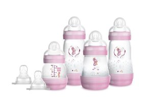 Kit 4 Mamadeiras MAM Easy Start - Gift Set (0+ Meses) - Rosa