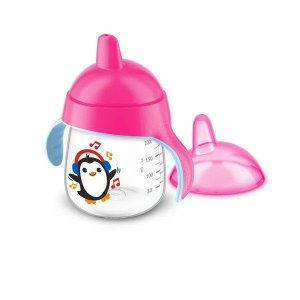 Copo Pinguim 260 ml - Rosa - Philips Avent