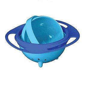 Pratinho Infantil Mágico 360 Anti-Queda com Tampa, Azul, 6m+