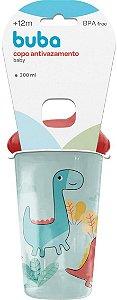 Copo Anti-Vazamento Baby Dinossauro, Azul e Verm. -  Buba