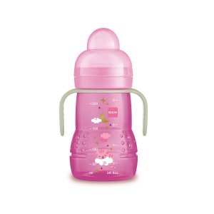 Copo Trainer Antivazamento Night, Rosa, 200ml, 4m+, MAM