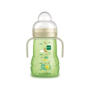 Copo Trainer Antivazamento Night, Verde, 200ml, 4m+, MAM
