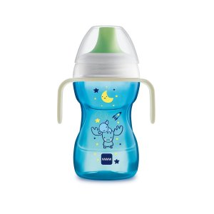 Copo Antivazamento Fun To Drink Night, Azul, 270ml, 8m+, MAM