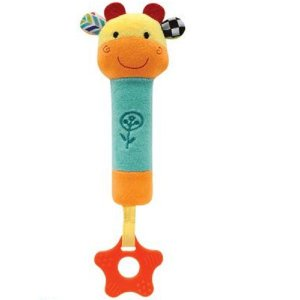 Buzina Com Mordedor Happy Zoo, Girafinha, Buba