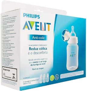 Kit 3 Mamadeiras Anti-Colic 260ml, Philips Avent