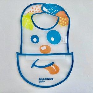 Babador 2 em 1 Canguru Azul, Multikids Baby